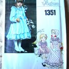 Vogue Pattern # 1351 UNCUT Fancy Girls Dress Size 6