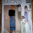 McCalls Pattern # 2682 UNCUT Misses Pull-On Skirt Long Size SX Small Medium