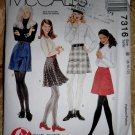 McCalls Pattern # 7316 UNCUT Misses Skirt Size 8 10 12