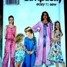 Simplicity Easy Pattern #9292 UNCUT Girls Sleepwear Nightgown Robe Size 7 8 10 12 14