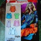 Simplicity Pattern # 0591 UNCUT Misses Blouse Size 8 10 12 14