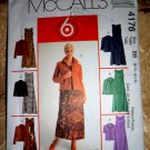 McCalls Pattern # 4176 UNCUT Misses Dress Jacket Size 8 10 12 14