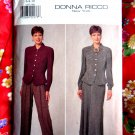 Butterick Pattern # 4187 UNCUT Misses Top Skirt Pants Size 6 8 10 Donna Ricco New York circa 1995