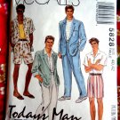 McCalls Pattern # 5828 UNCUT Mens Jacket Shirt Pants Shorts Size 40 42