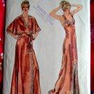 Vogue Pattern # 7254 UNCUT Misses Gown Robe Belt Size 12 ONLY