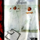 Vogue Pattern # 1474 UNCUT Baby Christening Gown Coat Blanket Pillow Bonnet