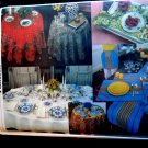 Vogue Pattern # 1714 UNCUT Table Cloth Various Sizes Round Rectangle Napkins Placemats