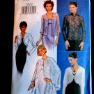 Butterick Pattern #  3345 Misses  Formal Evening Jacket Cape Shrug Bolero Size 6 8 10