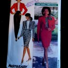Butterick Pattern # 6580 UNCUT Misses Bolero Jacket Pants Skirt Size 6 8 10