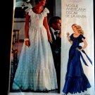 Vogue Pattern # 1043 UNCUT Misses Evening Long Dress Size 10 ONLY Bust 32 1/2