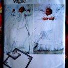 Vogue Pattern # 2878 UNCUT Baby Christening Gown Coat Blanket Pillow Bonnet