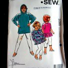 Kwik Sew Pattern #2095 UNCUT Girls Tops STRETCH KNITS ONLY Size 8 10 12 14