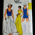 Vogue Pattern # 9473 UNCUT Misses Jumpsuit Skirt Size 10 ONLY STRETCH KNITS ONLY