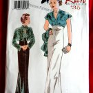Butterick Pattern # 6410 UNCUT Misses Retro Evening Dress Jacket Size 12 14 16