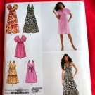Simplicity Pattern # 2642 UNCUT Misses Summer Dress Halter Dress Short Long Size 14 16 18 20 22