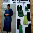 Simplicity Pattern # 9715 UNCUT Misses Dress Top Skirt Jacket Pants STRETCH KNITS Size 18 20 22 24