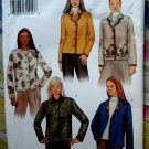 Butterick Pattern # 3573 UNCUT Misses Fleece Button Front Long Sleeve Jacket Size 14 16 18
