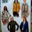 Butterick Pattern # 3573 UNCUT Misses Fleece Button Front Long Sleeve Jacket Size 14 16 18