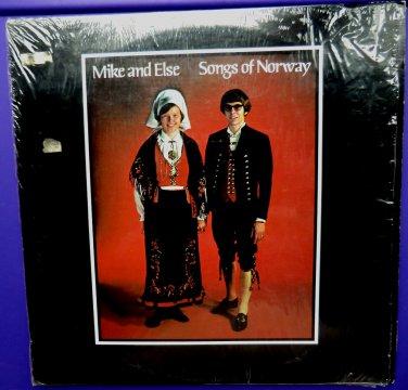 LP Record ~ Songs of Norway Mike and Else Norwegian Songs