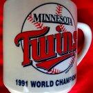 Vintage 1991 Minnesota MN Twins Mug World Champions Team Roster
