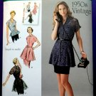 Simplicity Pattern # 1460 UNCUT Misses Retro Top Skirt Size 6 8 10 12 14 Mid Century 1950's