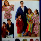 Simplicity Pattern # 3575 UNCUT Mens Womans Childern Bath Robes Size XS Small Medium Large XL