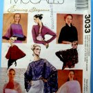 McCalls Pattern # 3033 UNCUT Misses Evening Cover-Up ALL Sizes