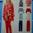 New Look Pattern # 6162 UNCUT Misses Dress Top Jacket Slim Pants Size 10 12 14 16 18 20 22