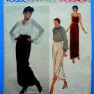 Vogue Pattern # 2103 Semi-Cut Misses Blouse Camisole Skirt Size 12 ONLY Oscar de la Renta