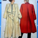 Butterick Pattern # 3476 Misses Dramatic Loose Fitting Unlined A-Line Coat Size 8 10 12