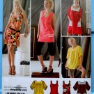 Simplicity Pattern # 2998 UNCUT Misses Mini Dress TOP STRETCH KNITS Size 14 16 18 20 22