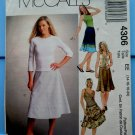 McCalls Pattern # 4306 UNCUT Misses Bias Flared Skirt Size 14 16 18 20