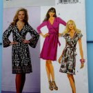 Butterick Pattern # 5454 UNCUT Misses Wrap Dress Variations STRETCH KNITS ONLY Size 8 10 12 14