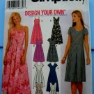 Simplicity Pattern # 9559 UNCUT Misses Summer Dress Neckline Sleeve Variations Size 14 16 18 20