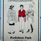Park Bench Pattern # 14 Audubon Park UNCUT Misses Swing Coat