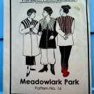 Park Bench Pattern # 16 Meadowlark Park  UNCUT Misses Jacket