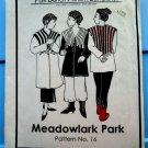 Park Bench Pattern # 16 Meadowlark Park  UNCUT Misses Jacket