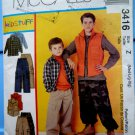 McCalls Pattern # 3416 UNCUT Boys Shirt Vest Pull-On Pants Size Medium Large XL
