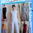 McCalls Pattern # 4007 UNCUT Misses  Wrap Dress Tops Pants 16 18 20 22