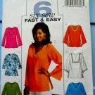 Butterick Pattern # 4684 UNCUT Misses Top / Tunic Size Large XL