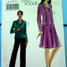 Vogue Pattern # 8133 UNCUT Misses Jacket Skirt Pants Size 8 10 12 14