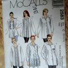 McCalls Pattern # 2583 UNCUT Misses Blouse Variations Size 10 12 14