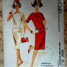 McCalls Vintage 1961 Pattern # 5937 UNCUT Misses Two Piece Dress Size 11