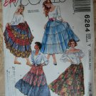 McCalls Pattern #6284 UNCUT Misses Tiered Skirts Size XSM Small Medium