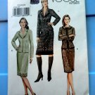 Vogue Pattern # 7945 UNCUT Misses Classic Tweed Jacket Cardigan & Skirt Size 12 14 16