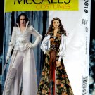 McCalls Pattern # 6819 UNCUT Misses Costume Steampunk Goth Coat Cape Corset Size 14 16 18 20 22