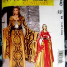 McCalls Pattern # 6940 UNCUT Misses Costume Medieval Dress Size 14 16 18 20 22