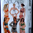 McCalls Pattern # 5400 UNCUT Misses Bathing Suit and Cover Variations Size 12 14 16 18