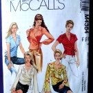 McCalls Pattern #4384 UNCUT Misses Wrap Top Size 4 6 8 10 12 14