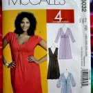 McCalls Pattern # 6032 UNCUT Misses Dress Sleeve Variations Size 18 20 22 24